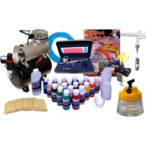 Iwata HP-C Airbrush Compressor With Createx Paint Review
